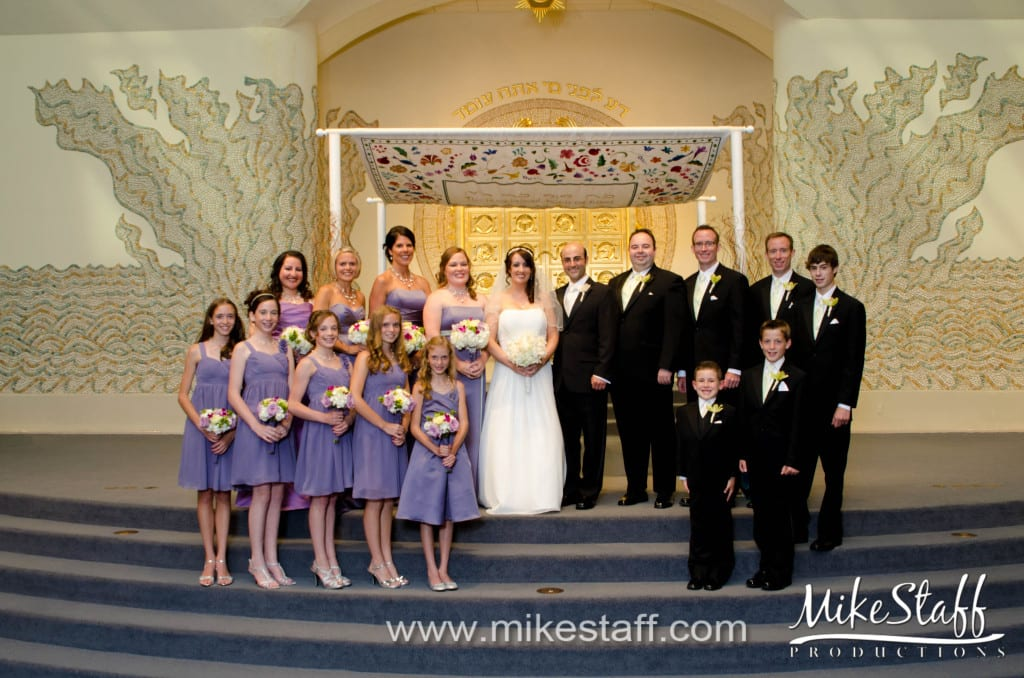 Temple Israel – West Bloomfield Wedding Photo -