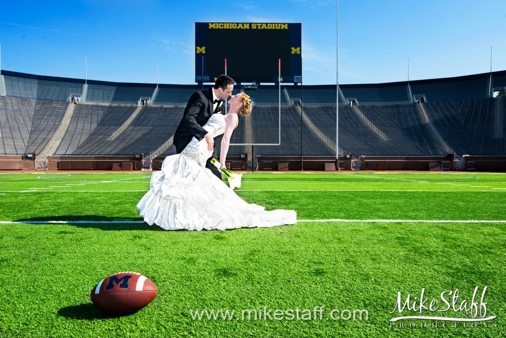 Michigan Stadium Wedding Photo -